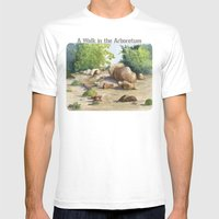 A Walk In The Arboretum Mens Fitted Tee White SMALL