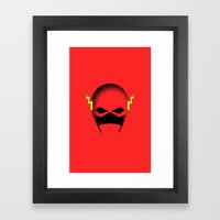 The Cowl: The Flash Framed Art Print