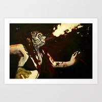 Breathing Fire Art Print