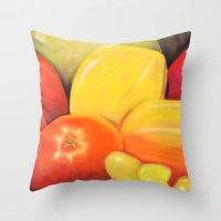 Fruit - Pastel Illustrat… Throw Pillow
