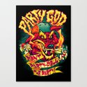 PARTY GOD (red) Canvas Print