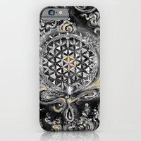 iPhone & iPod Case featuring Manipura°^Golden Waves in Snowy Space by ChiTreeSign