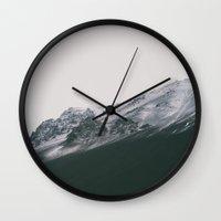 Dark Mountain Wall Clock