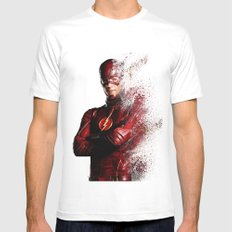 The Flash SMALL Mens Fitted Tee White