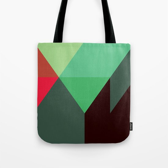 Green & Red Triangles Tote Bag