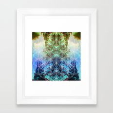 sunset block Framed Art Print