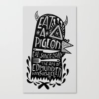 Eat A Pigeon: American M… Canvas Print