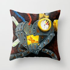 My rusted heart  Throw Pillow