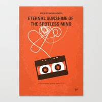 No384 My Eternal Sunshine of the Spotless Mind minimal movie poster Canvas Print