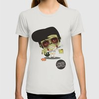 Elvis Zombie Womens Fitted Tee Silver SMALL