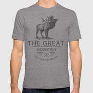 Great Mountain Deer Mens Fitted Tee Tri-Grey SMALL