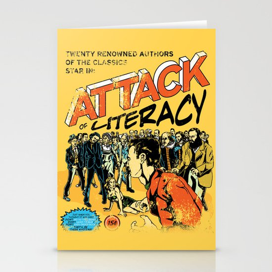 Attack of Literacy Stationery Card