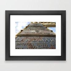 History of... Framed Art Print