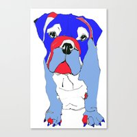 Britishy Bulldog Canvas Print