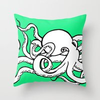 8 Arms in Motion Throw Pillow