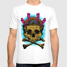Goldskull White Mens Fitted Tee SMALL