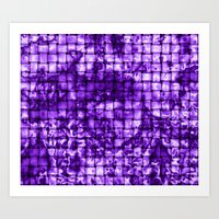 Purple Satin Weave Effec… Art Print