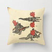 Lego Dragon Throw Pillow