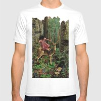 Deerlove | Collage Mens Fitted Tee White SMALL