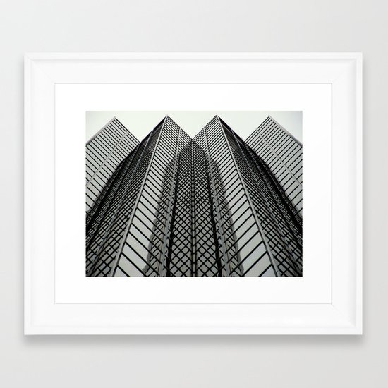 Linear Mirrors Framed Art Print