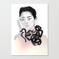 Black Snake Canvas Print