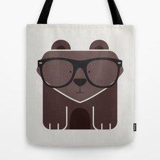 Hipster Bear Art Print Tote Bag
