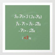 Math love Art Print