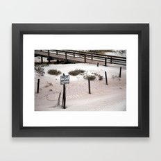 The Dunes Framed Art Print