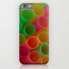 Colorful Straws Photo iPhone 6 Slim Case