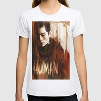 Some Of Us Are Human Womens Fitted Tee Ash Grey SMALL