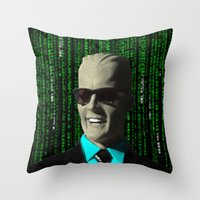 max meets matrix Throw Pillow