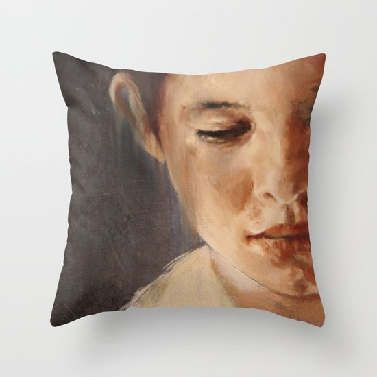 blue boy (detail) Throw Pillow