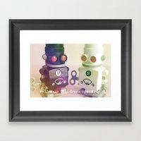 Digital Love Framed Art Print