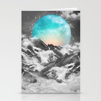 winter Stationery Cards featuring It Seemed To Chase the Darkness Away (Guardian Moon) by soaring anchor designs