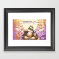 Happy Buddha Framed Art Print