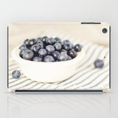 Scalloped Cup Full of Blueberries - Kitchen Decor iPad Case