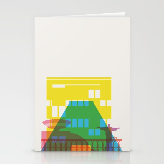 Shapes of Rio. Accurate to scale Stationery Card