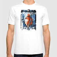 MOONLIGHT DIVE Mens Fitted Tee White SMALL