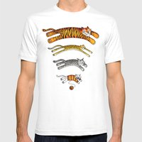 Wi-Fi Cats Mens Fitted Tee White SMALL