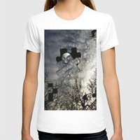 Sky Surrealism. Womens Fitted Tee White SMALL