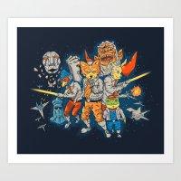 Fox Team Art Print