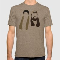 Jay And Silent Bob Strik… Mens Fitted Tee Tri-Coffee SMALL