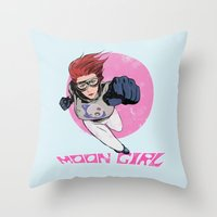 Moon Girl Punch-Out Throw Pillow