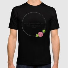 Floral - Lose My Mind Black Mens Fitted Tee SMALL