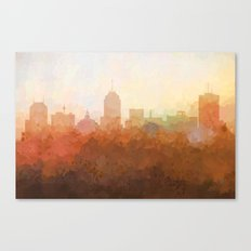 Fresno, California Skyline - In the Clouds Canvas Print