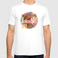 Hustle. Mens Fitted Tee White SMALL