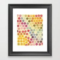 Stamp Dots Framed Art Print