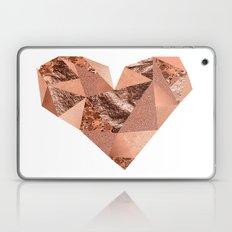 Rose gold geometric heart - glitter & foil Laptop & iPad Skin