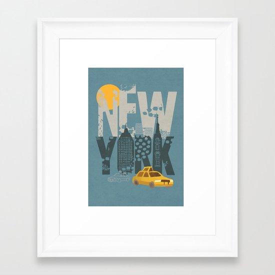 New York! New York! Framed Art Print