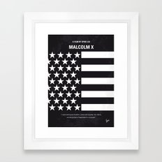 No250 My MALCOLM X Minim… Framed Art Print